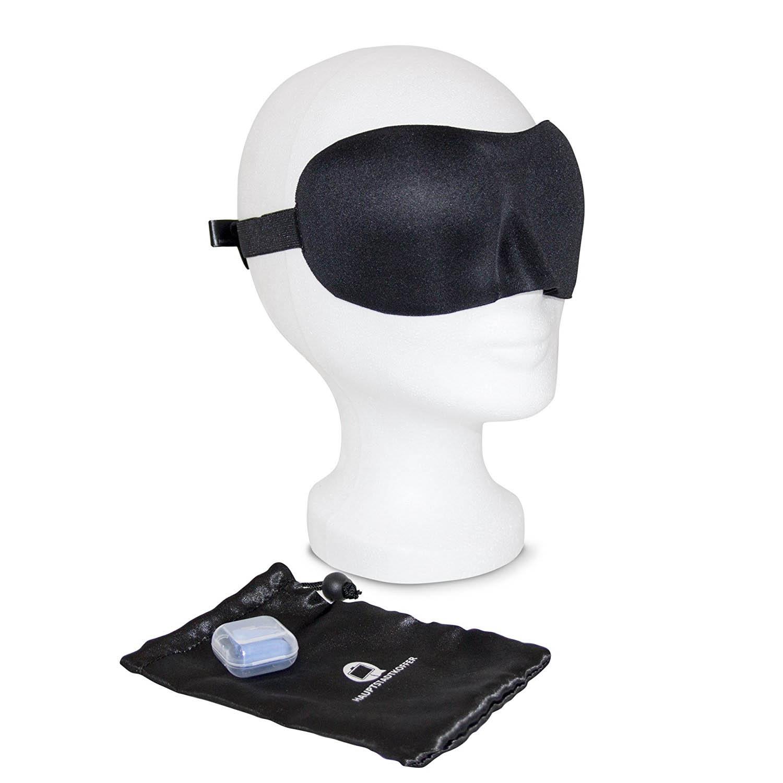 Schlafbrille Set - Aigenmaske und Ohrstöpsel