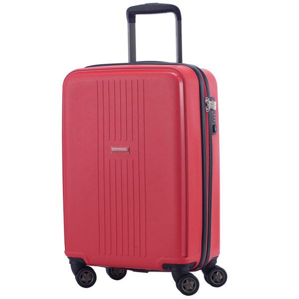 leichtes Bordgepäck Koffer im Rot