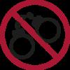 Verbotene Gegenstände -Handschelen im Handgepäck