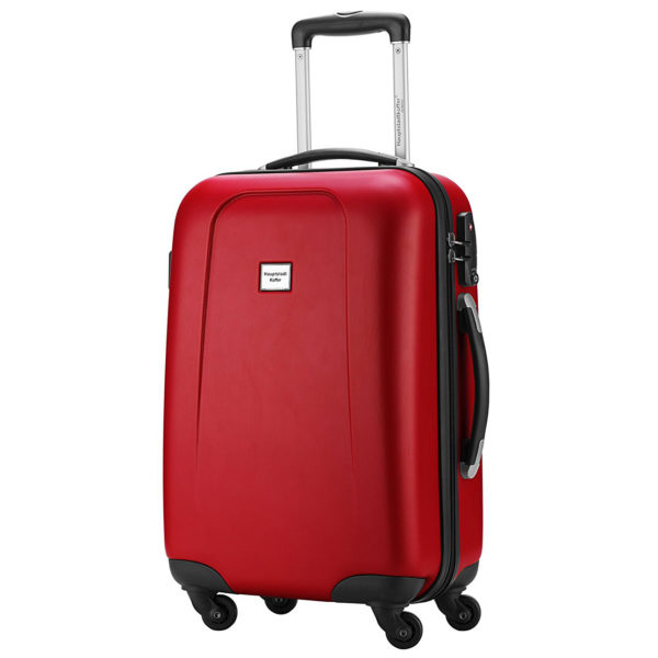 Hartschalen Bordgepäck Kabinen Trolley 55x38x22 cm im rot