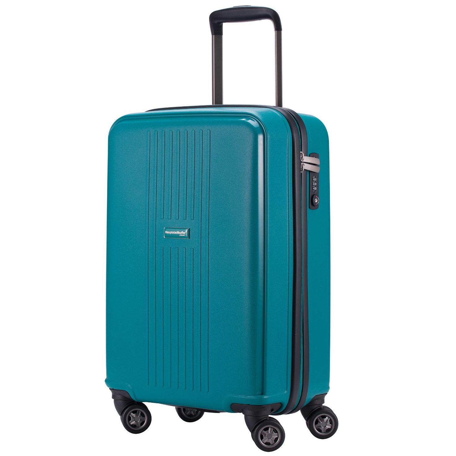 Leichtes Bordgepäck Koffer 55x36x21 cm - blau